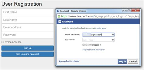 Simple Login and Sign Up using Facebook Javascript SDK My