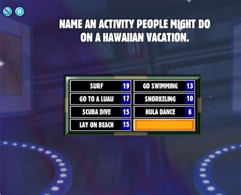 Facebook Family Feud Cheats: Name an activity people might