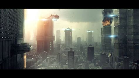 After Effects: Future City Matte Painting - YouTube