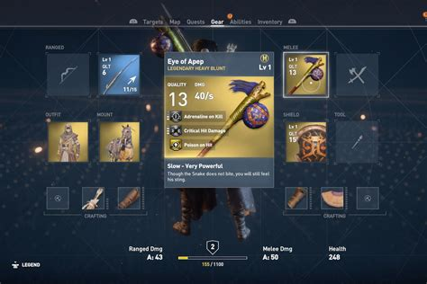 Assassin's Creed Origins weapons - how cursed and