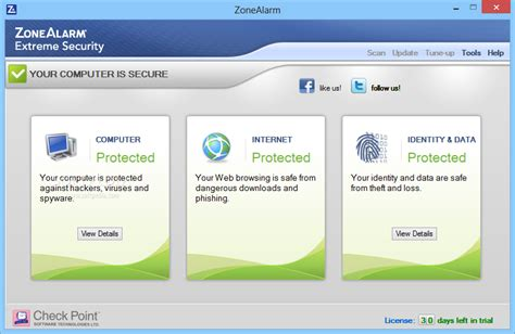 Download ZoneAlarm Extreme Security 15