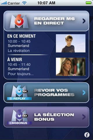 M6 Replay disponible - iPhone Soft
