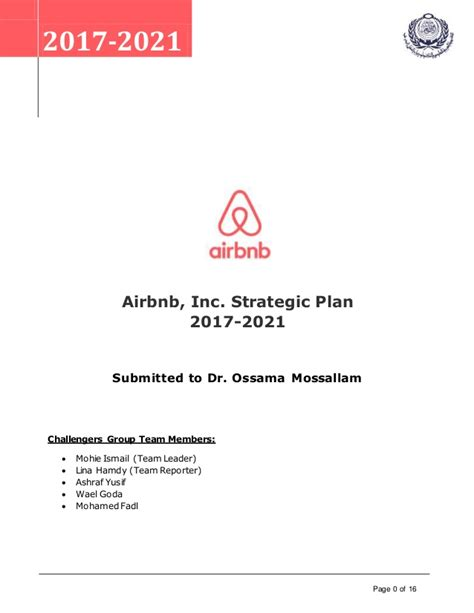 Strategic plan harvard business review casestudy airbnb