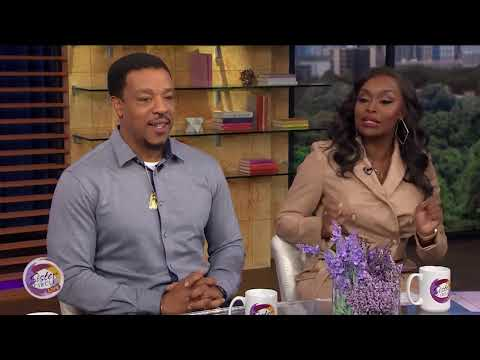 "Denise Walker and Russell Hornsby attend ""The Hate U Give"