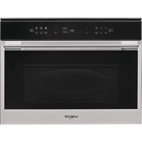 Whirlpool built in microwave oven: in Stainless Steel - W7