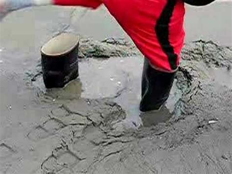 rubber boots in sticky mud - YouTube
