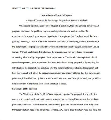 Sample Research Paper Proposal Template - 13+ Free