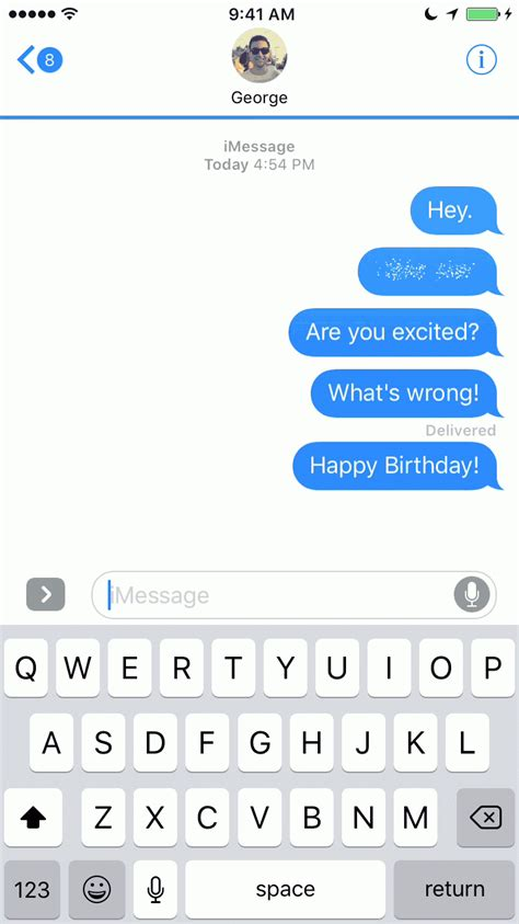 9 GIFs Showcasing Every New iMessage Bubble Effect in iOS 10