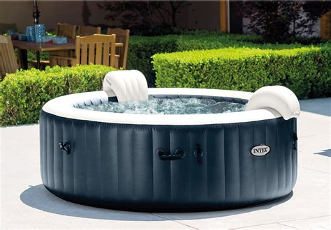 Spa gonflable INTEX Blue navy rond, 6 places assises