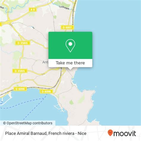 How to get to Place Amiral Barnaud in Antibes by Bus or