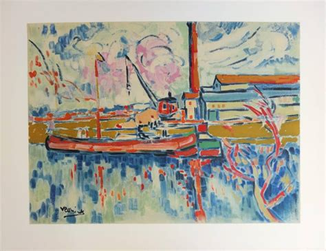 (after) Maurice de Vlaminck - Seine River and Boat in