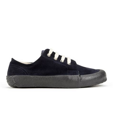YMC Women's Suede Low Side Tonal Sole Trainers - Navy