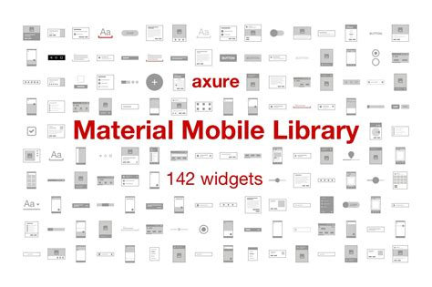 Material Mobile Library for Axure | Creative Templates