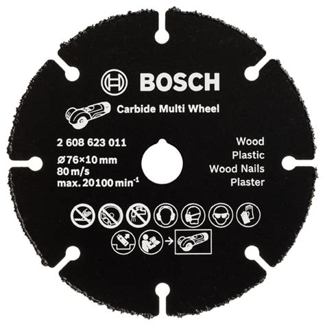 disque carbure GWS10,8-76V-EC BOSCH Multi Wheel