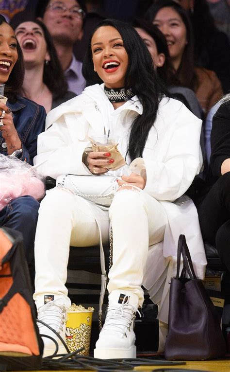 Rihanna from Courtside Celebs Are Making Serious Style