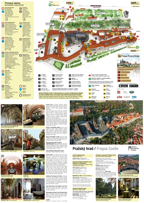 Map of Prague Castle with detailed informations Printable