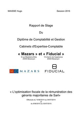 Rapport de stage dcg 3 immac by hugomaisse - Issuu
