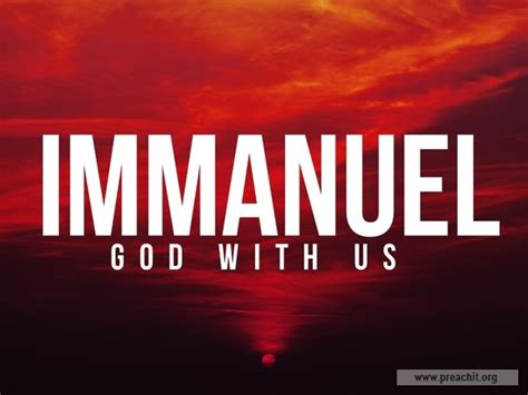 Sermon by Title: Immanuel God With Us