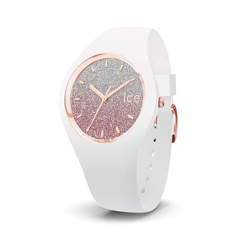 Montre Femme Ice Watch Ice Lo Blanc et rose Taille M