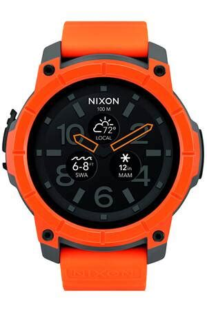 Montre connectée Nixon MISSION ORANGE/GRISE - MISSION