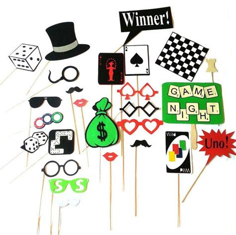 Game Night photo Booth Props We Love to customize! 2 Dice