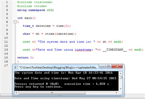 Display Date and Time in C++ – iNetTutor