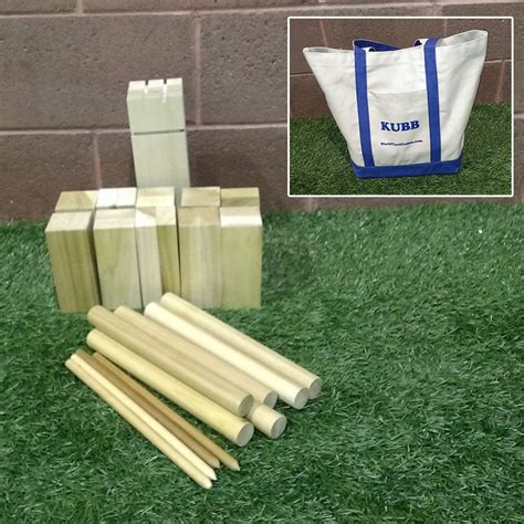 Kubb game (Official Size) with bag - worldyardgames